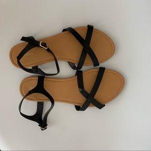 Forever 21 Black Strap Sandals